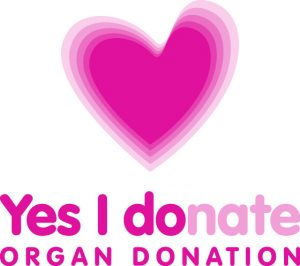 Organ Donation - Yes I donate heart icon