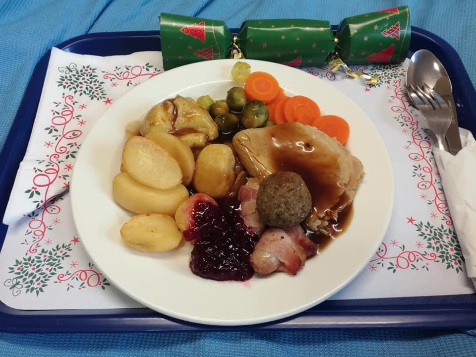 Christmas Dinner in hospital