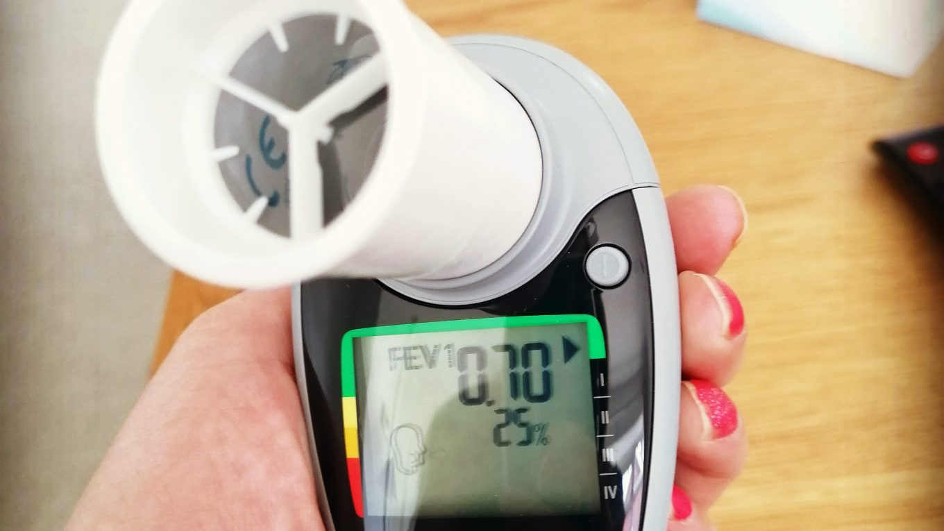 Home lung function results - home spirometry